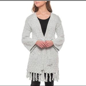 Cupcakes & Cashmere long cardigan, tie front, xs